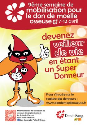 Affiche don de moelle osseuse 2014