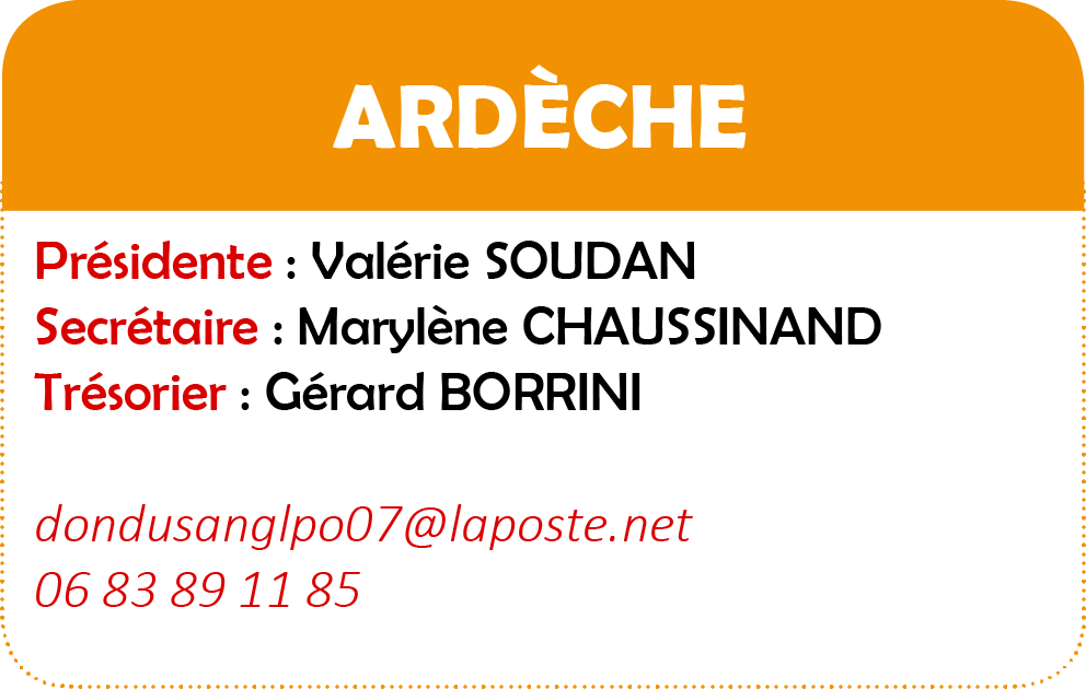 Ardeche infos modifiees