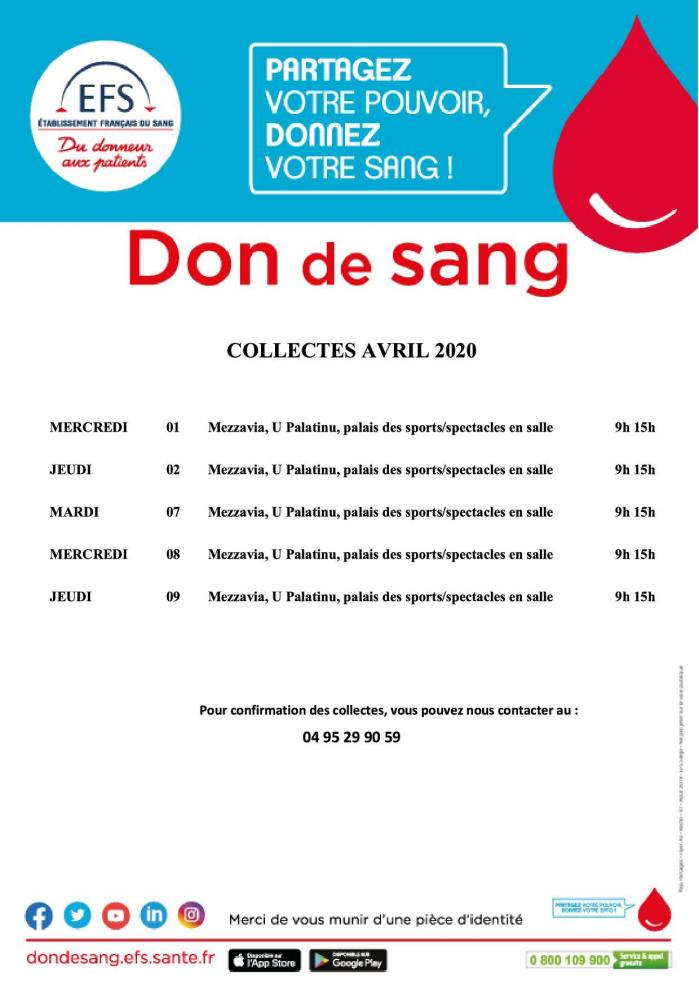 Planning collectes avril 2020